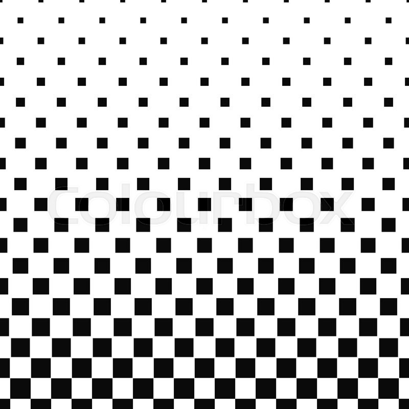 Seamless black white abstract square pattern design ...