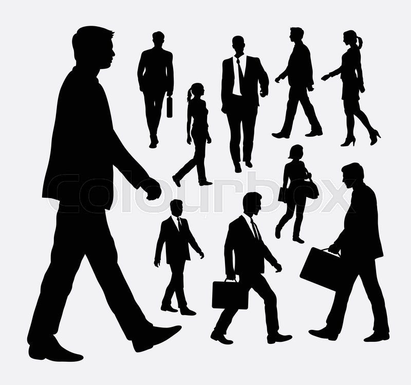people walking male and female stock vector colourbox people walking male and female
