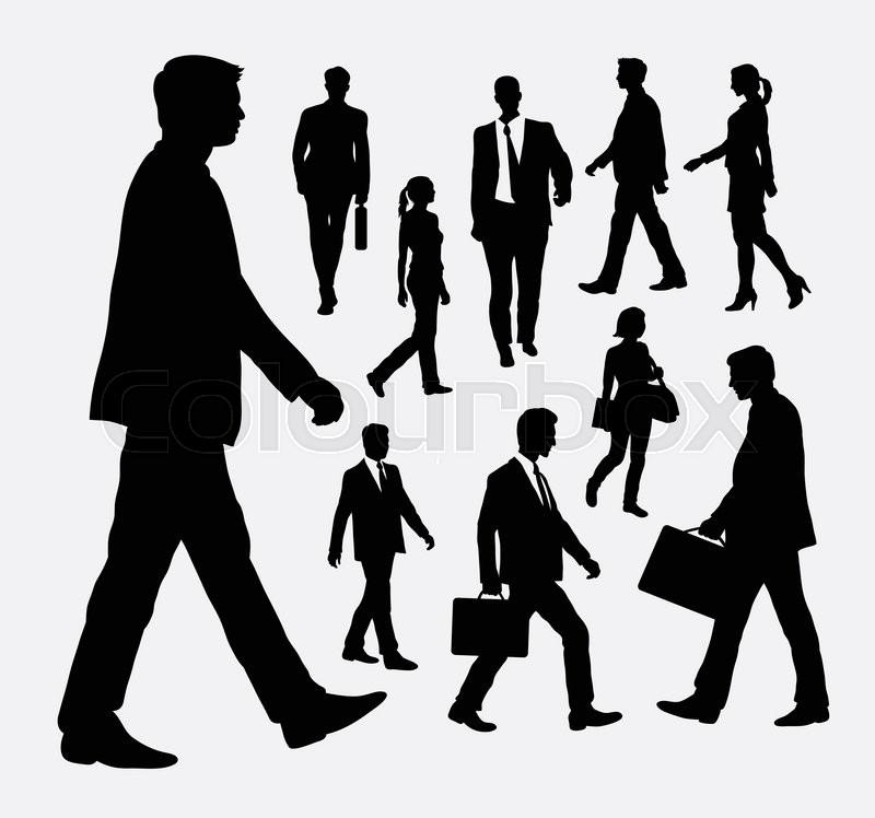 Walking People Logo People walking male an...