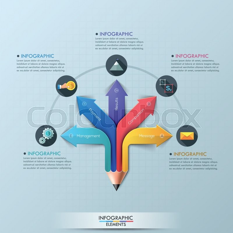 Arrow pencil infographic design template can be used for workflow arrow pencil infographic design template can be used for workflow layout diagram number options step up options web design banner template ccuart Choice Image