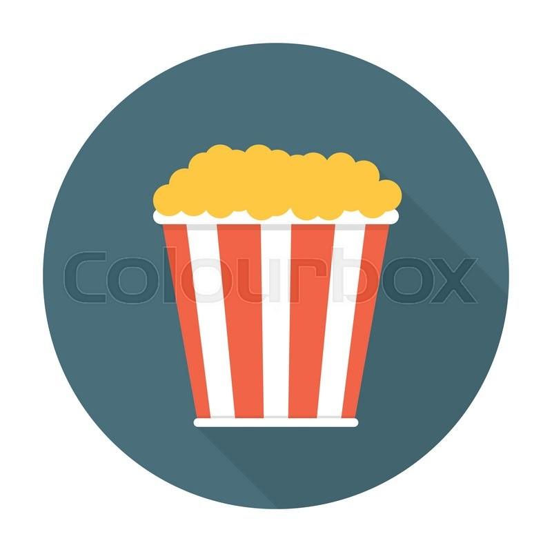 Pop corn flat icon. Editable EPS vector format | Stock ...