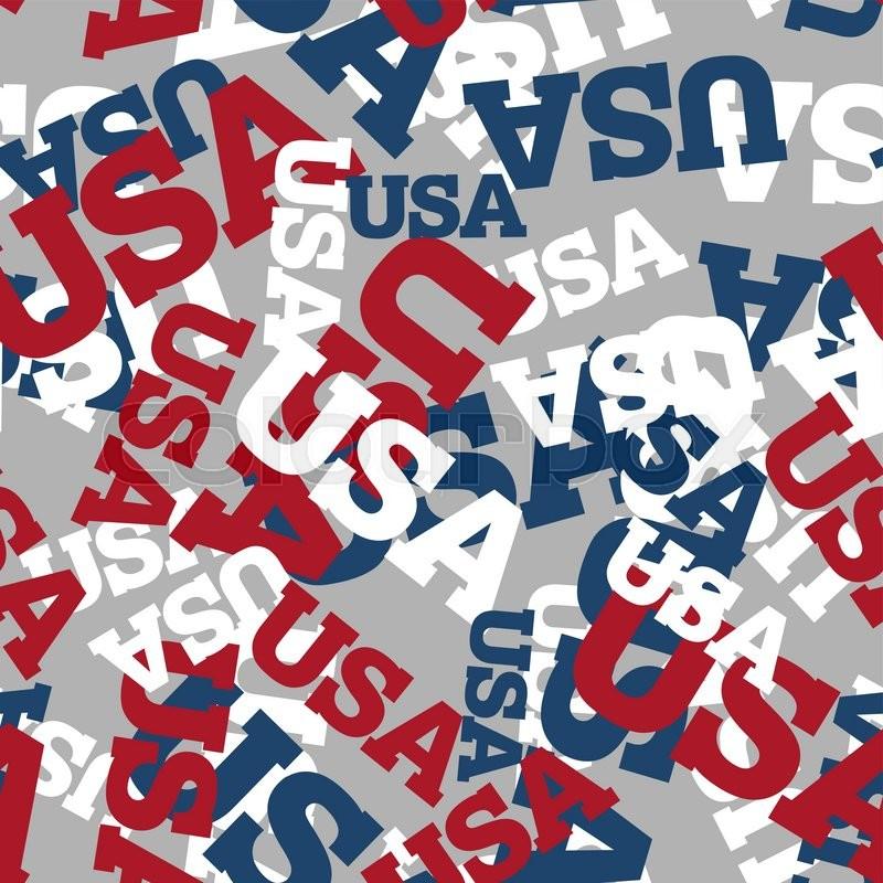 Designall20 July 2012: USA Seamless Pattern. National Background. American