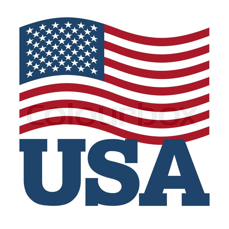 Flag Usa Developing America Flag On White Background Patriotic