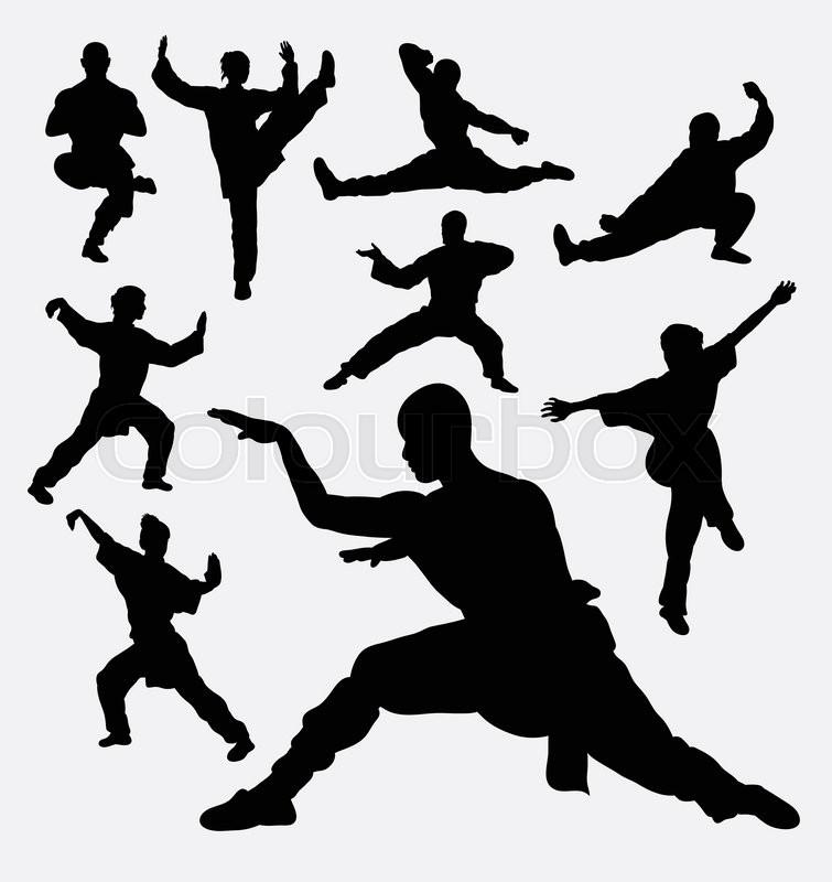 wushu male and female martial art silhouettes good use