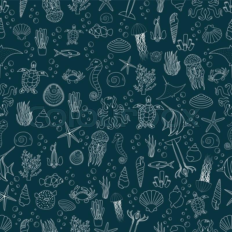 ocean fish wallpaper pattern - photo #2