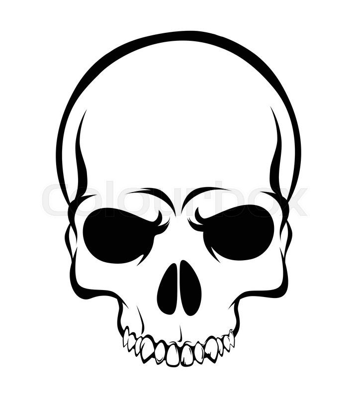 skull scary evil head vector illustration on white background rh colourbox com skull vector art skull vector file
