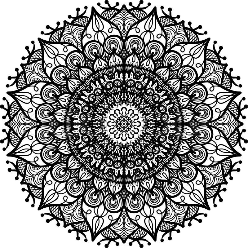hand drawn mandala in arabic indian islam and ottoman