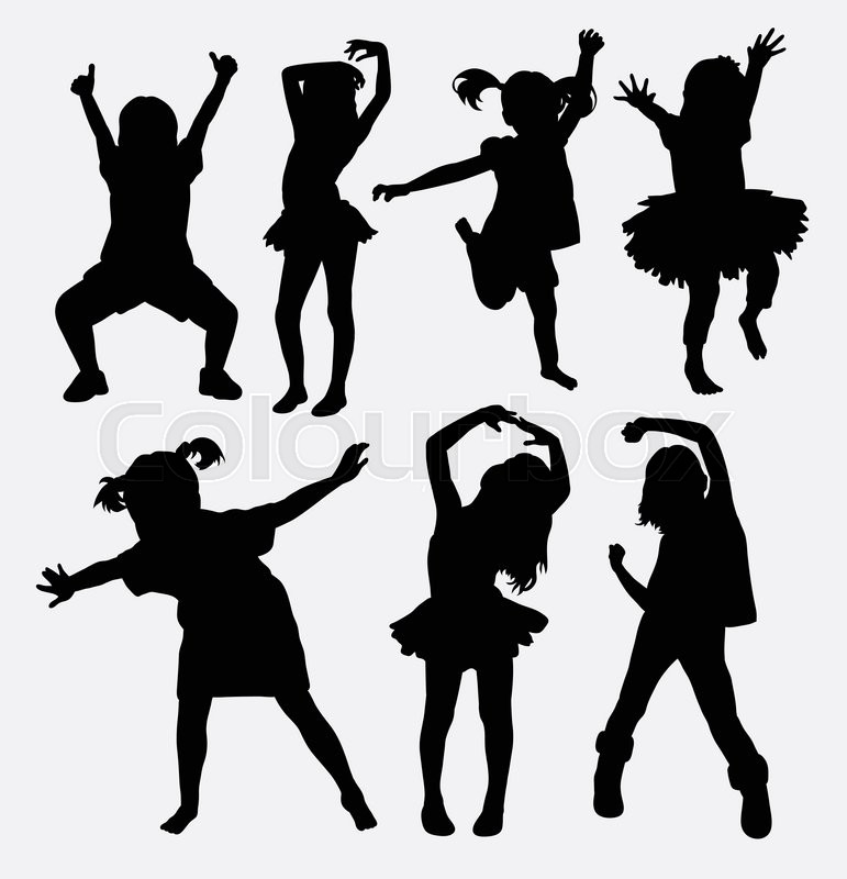 kid  little girl dancing silhouettes good use for symbol Dancer Silhouette Clip Art School Dance Clip Art