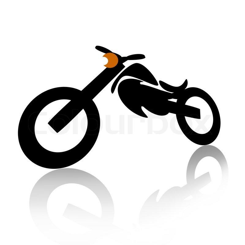 Stock foto af 'motorcykel illustration over hvide baggrund'