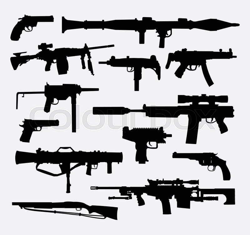 Gun weapon silhouettes. Good use for ... | Stock vector ...Text Symbols Copy And Paste Gun