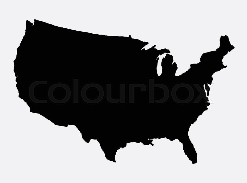 The United States Of America Map Island Silhouette Good Use For - Us map logo