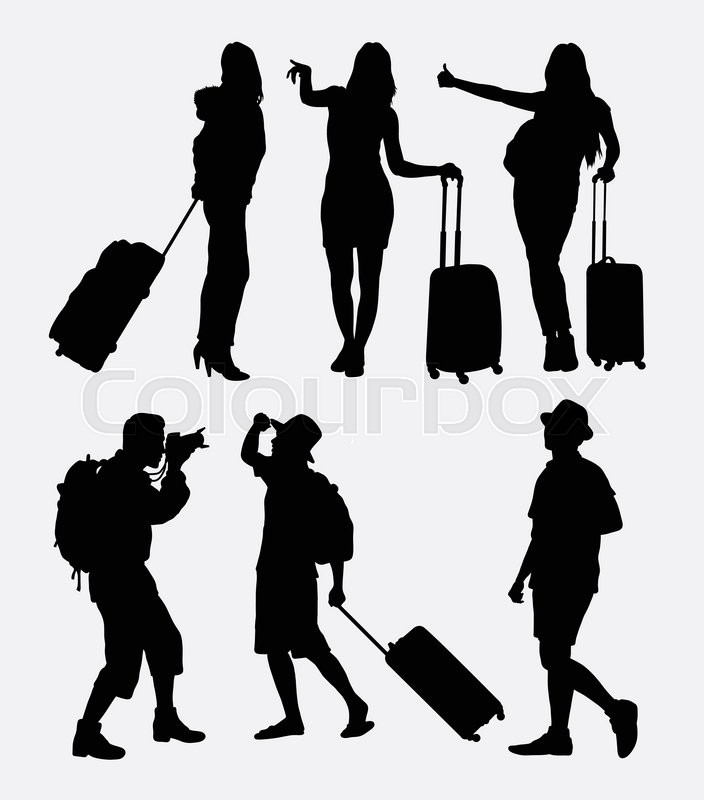 Infinity Logo Vector Icon: Traveling Tourist, Male And Female ...
