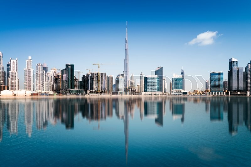 Dubai skyline, United Arab Emirates, stock photo
