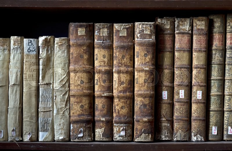 AREQUIPA, PERU, MARCH 9 - Books in the Ricoleta Library on March 9, 2011 in Arequipa, Peru. Ricoleta Library is the oldest library in Peru and Latin America, stock photo