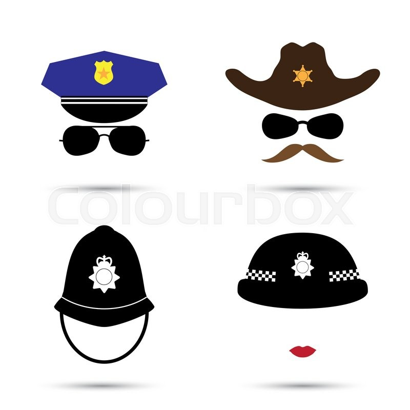 3a84b9226bd Set of colorful vector icons isolated ... | Stock vector | Colourbox