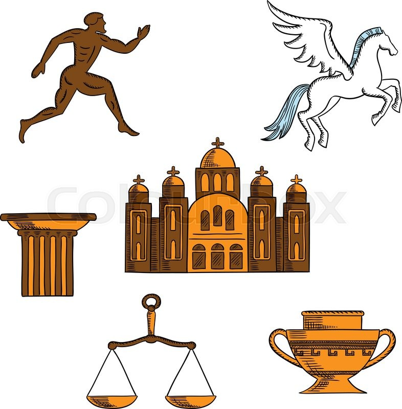 Ancient Greek Mythology Art Religion And Architecture Sketches For