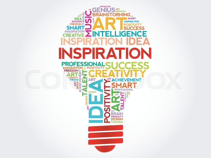 inspiration bulb word cloud concept stock vector colourbox brainstorm clipart free Choosing Clip Art Free