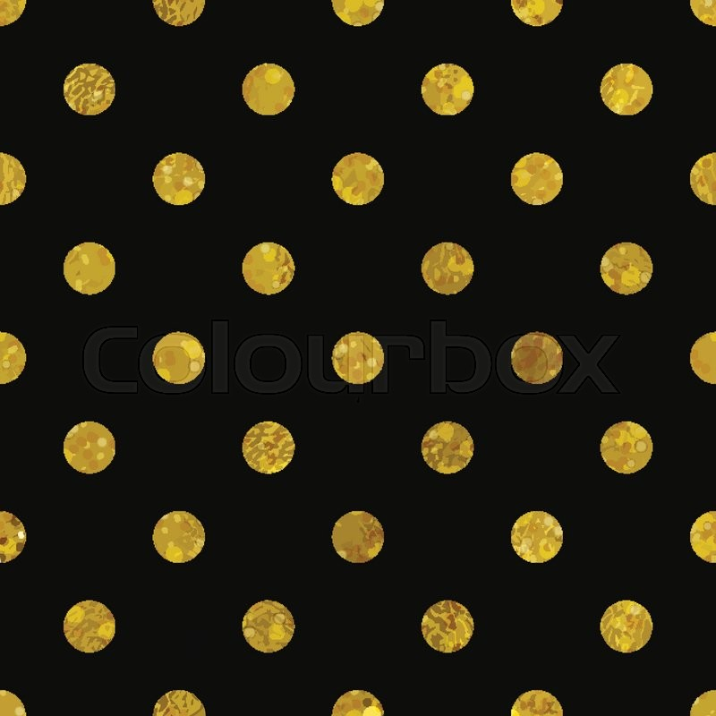 gallery for gold and black polka dot background