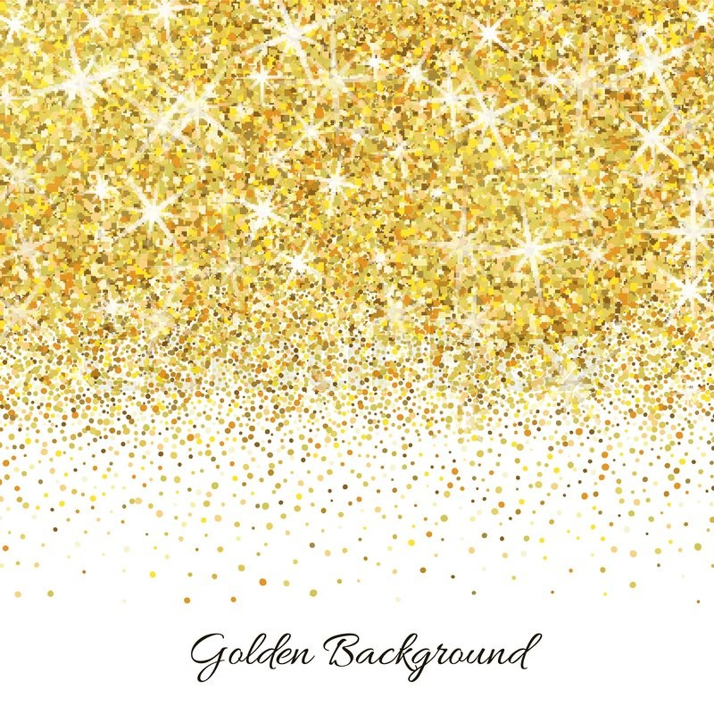 gold glitter texture isolated on white background vector