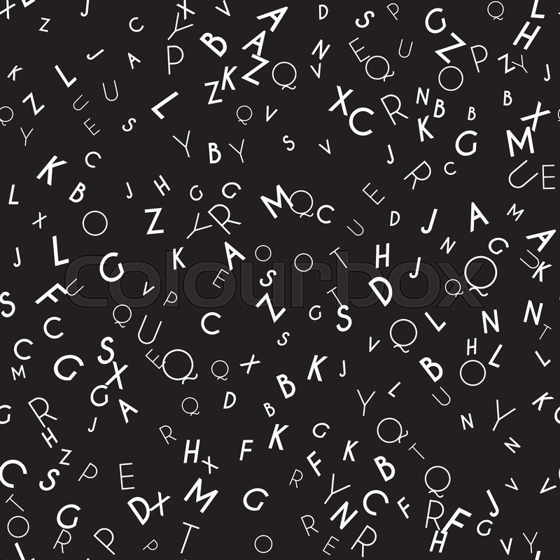 Random Letters Seamless Pattern Abstract Background With Alphabet Creative Wallpaper Design In Office Style Mix Of Latin ABC