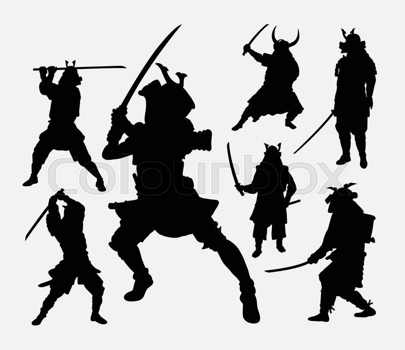 Samurai Japanese Warrior Martial Art Silhouette Good Use For