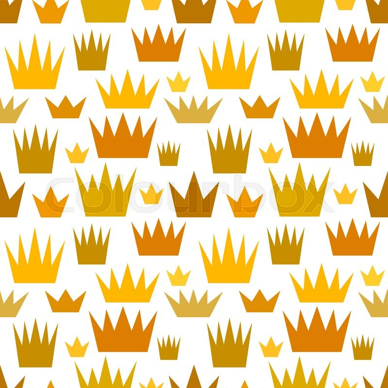 Baby and kids royal pattern with crowns cute princess for Kids pattern fabric