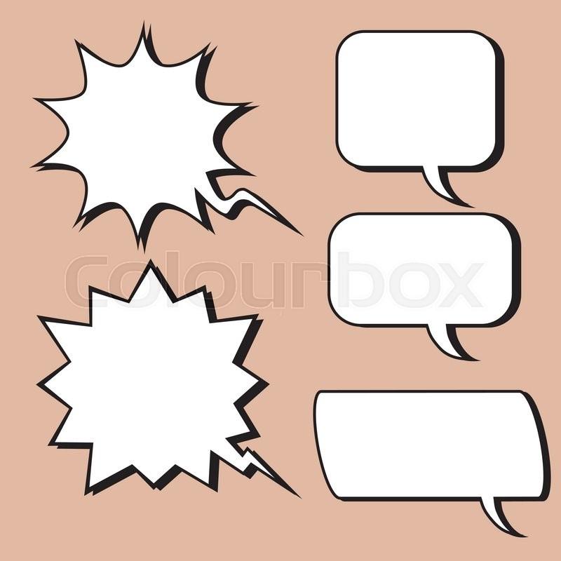 comic bubble retro style pop art retro style the form set for text