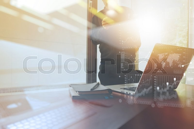 Business documents on office table with smart phone and digital business documents on office table with smart phone and digital tablet and graph business with social network diagram and man working in the background ccuart Image collections