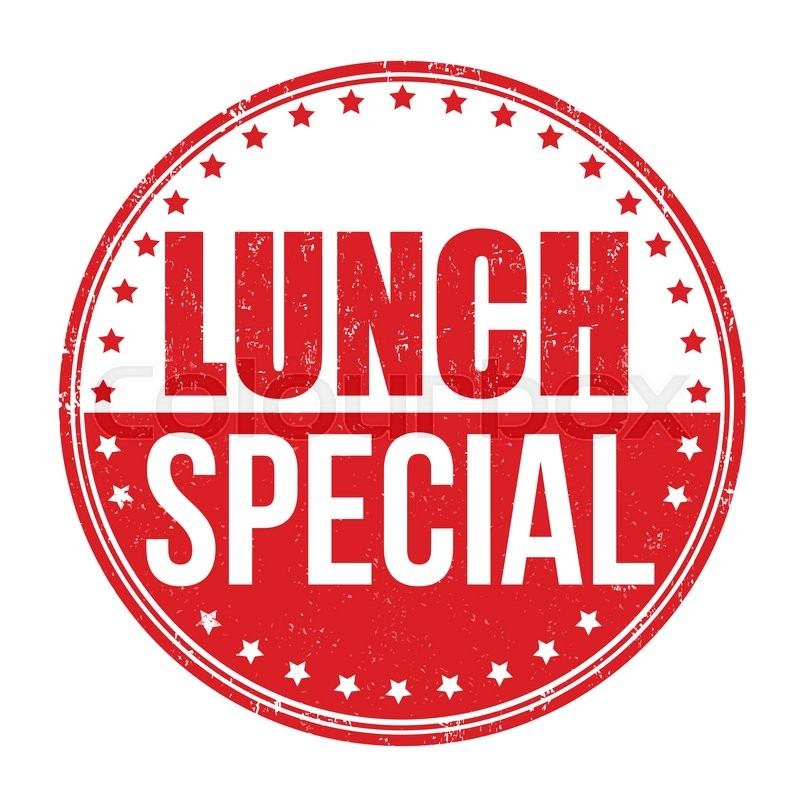 Lunch special grunge rubber stamp on white background for Lunch specials