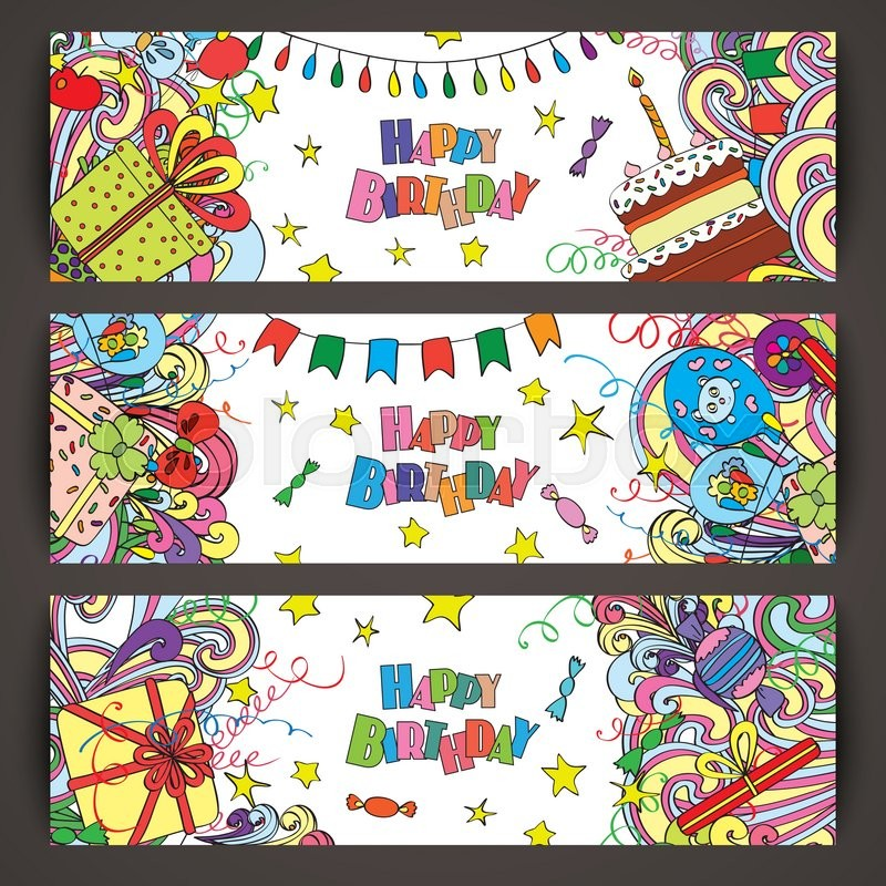 Happy Birthday Greeting Banners With ...