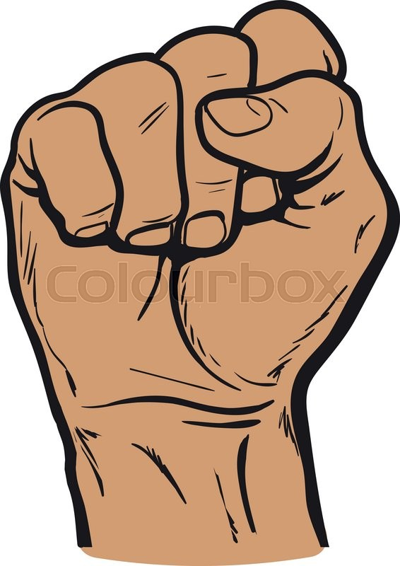 clenched fist hand clenched fist hand showing a fist vector hand rh colourbox com fist vector icon fist vector download