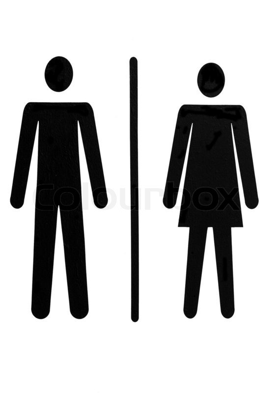 Man And Woman Symbol For Public Toilet, Stock Photo