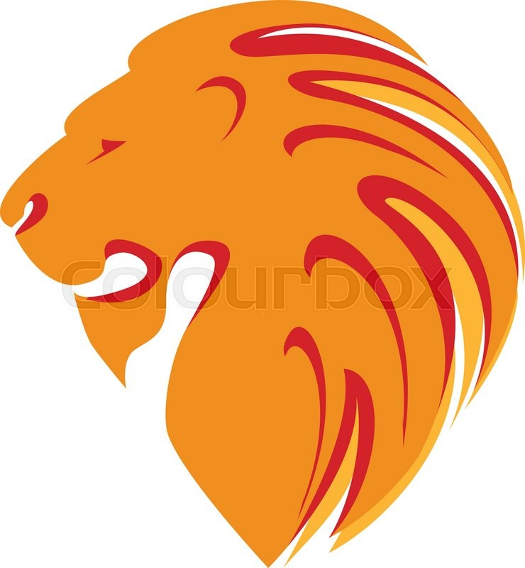 lion head template logo company logo design stock vector colourbox rh colourbox com lion head logo clothing lion head logo +shorts penn state