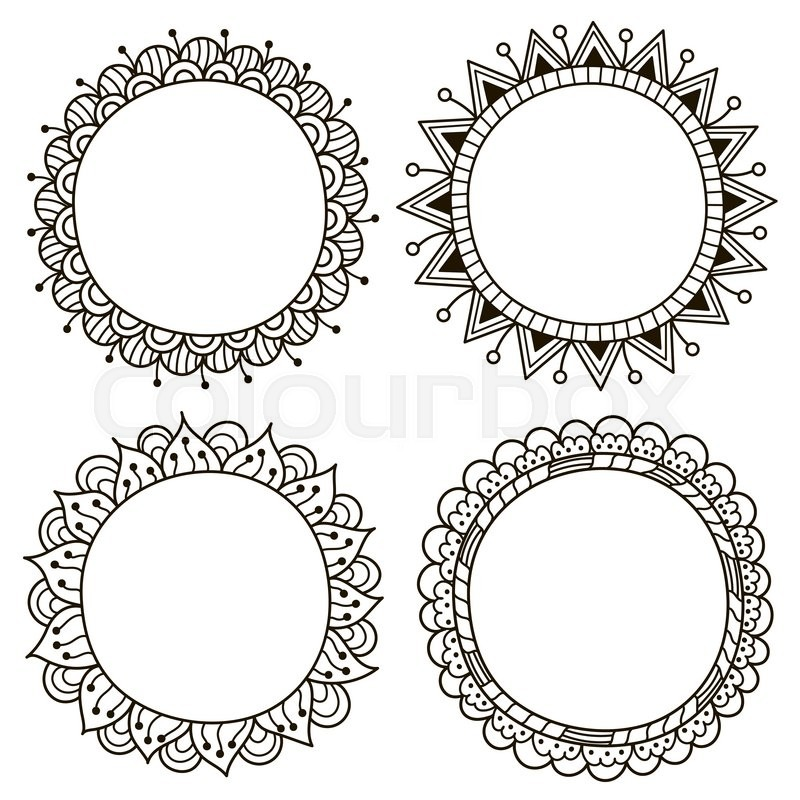 Cute Doodle Frames Black And White Zentangle Frames For Your Design
