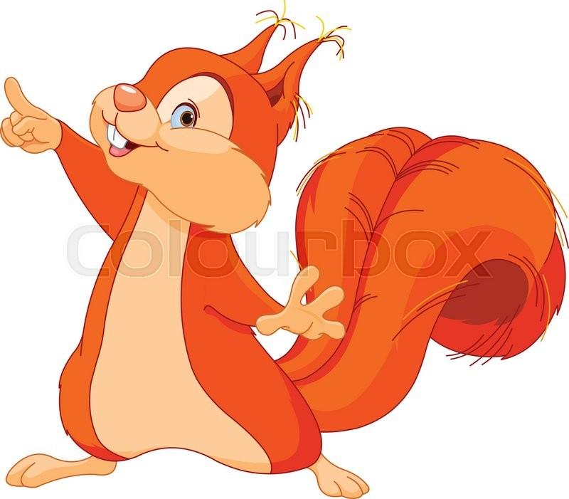 Eichhörnchen, clipart, nager | Vektorgrafik | Colourbox