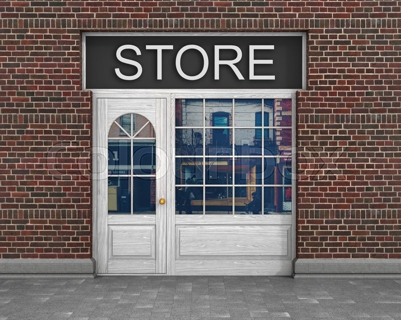 Shop front exterior horizontal windows empty for your for Shops exterior design