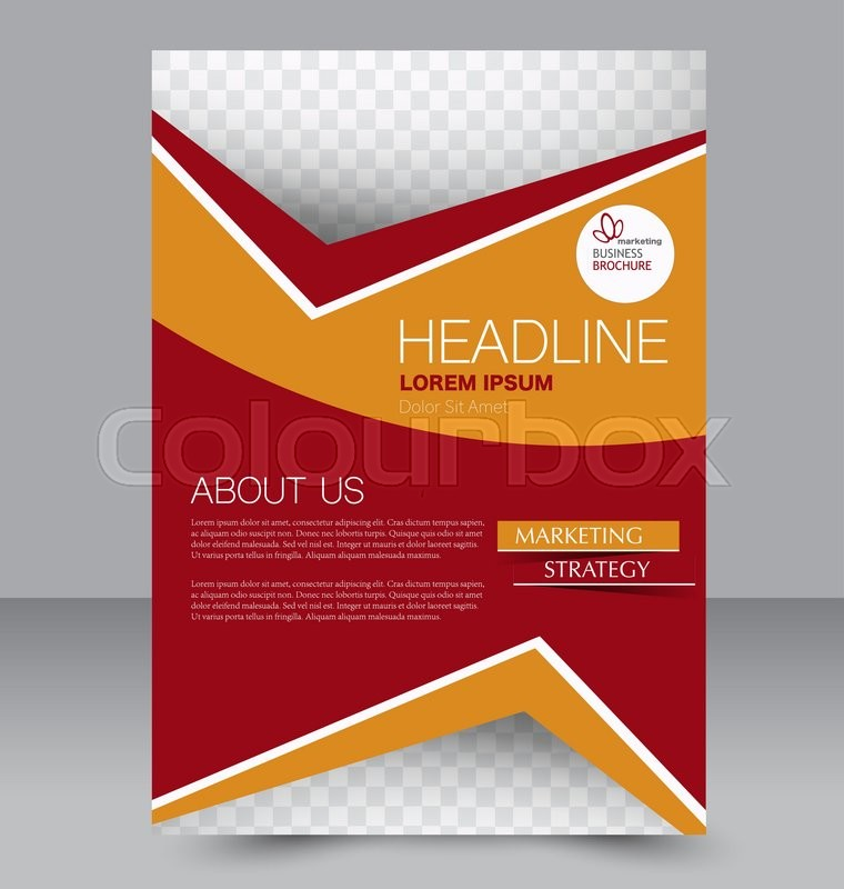 stock vector of abstract flyer design background brochure template can be used for
