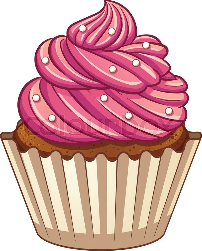 cartoon cupcake vector clip art illustration with simple gradients rh colourbox com cupcake vector icon cupcake vector image free