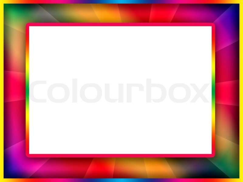 Colorful Frame | Stock Photo | Colourbox