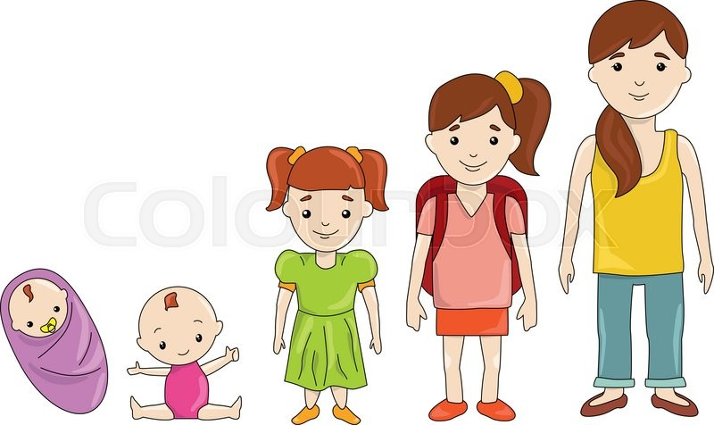 generations girls at different ages infancy  childhood grandparent clip art banner grandparent clipart photos free