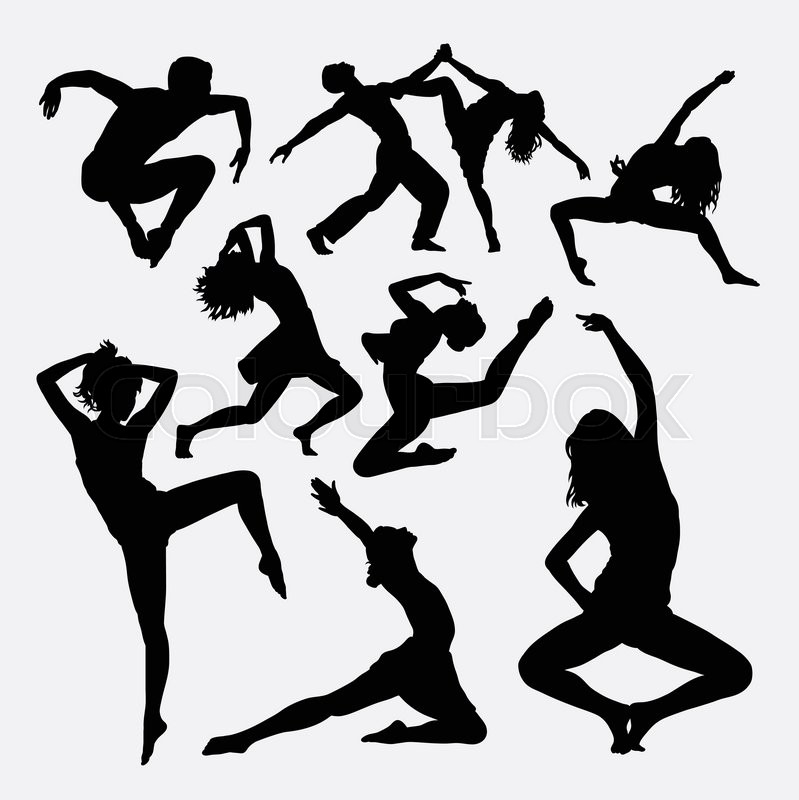 Dance Activity Male And Female Silhouette Good Use For Symbol