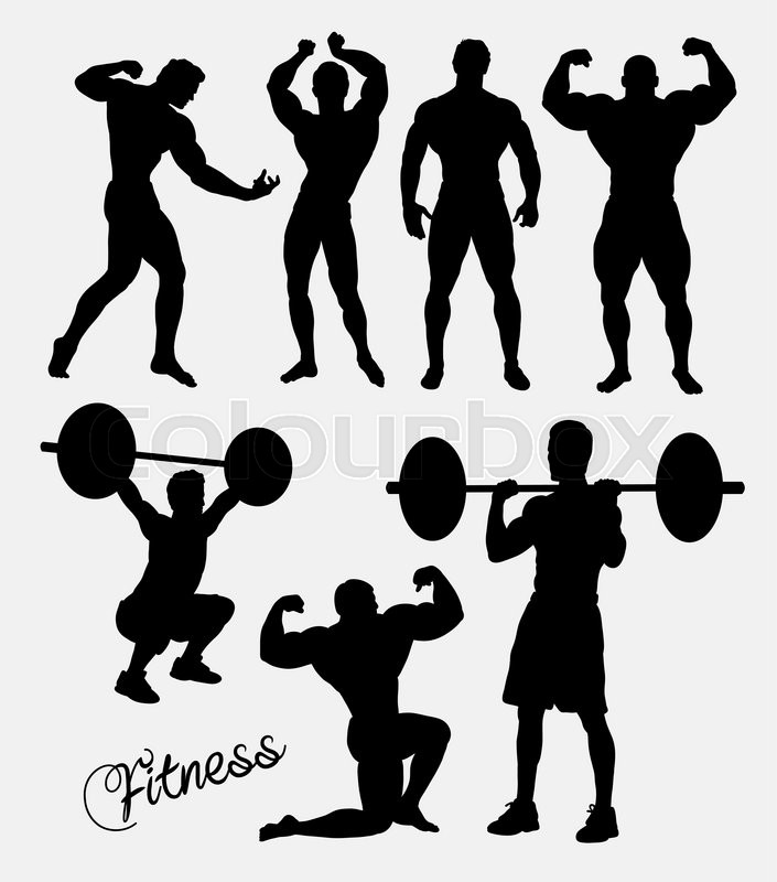 fitness body building gym sport training silhouette good use for