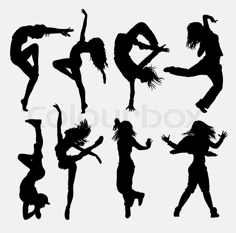 Cool Dancing 3 Girl Dancer Activity Silhouette Good Use For Symbol Web Icon Game Elements Logo Sign Mascot Or Any Design You Want Easy To