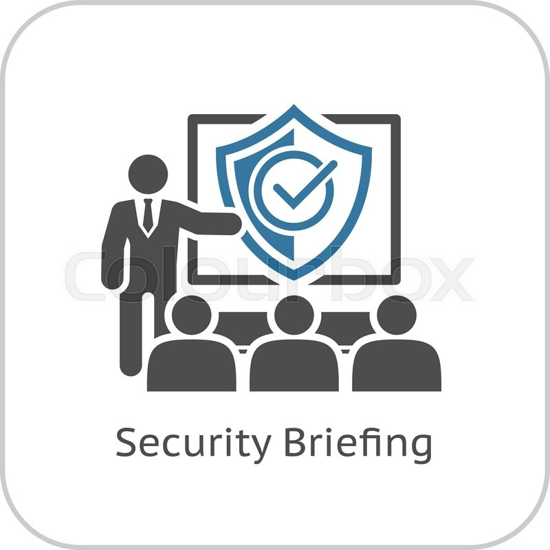 security briefing icon  business