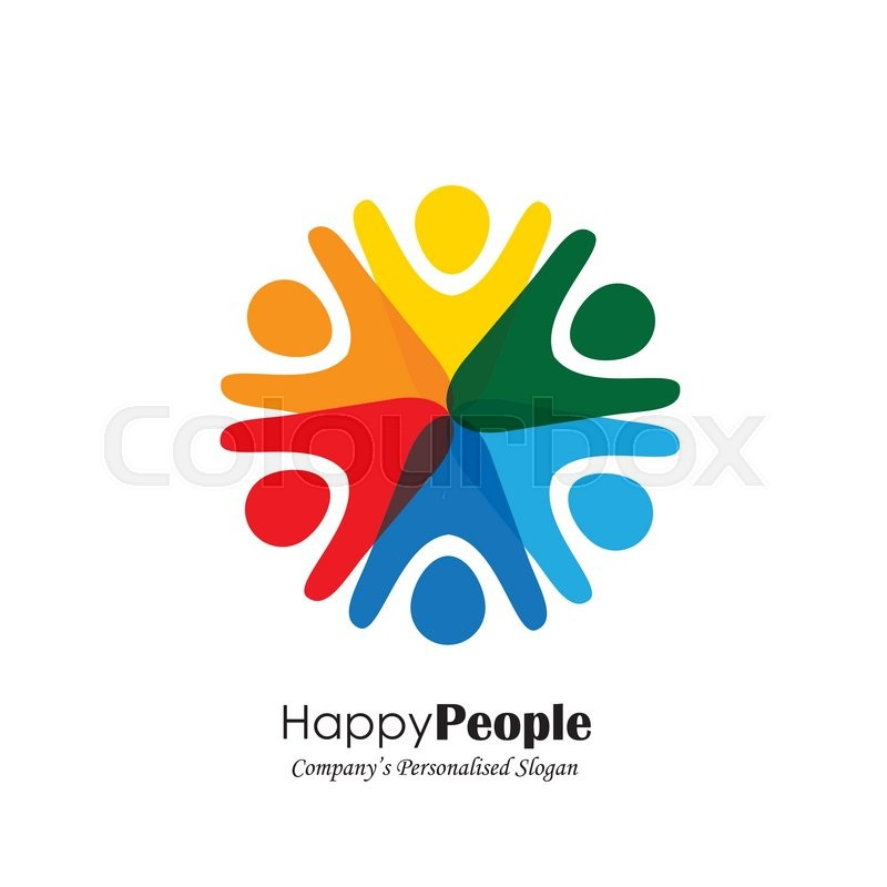 Team Teamwork Excited Employees Motivated People Vector Icon
