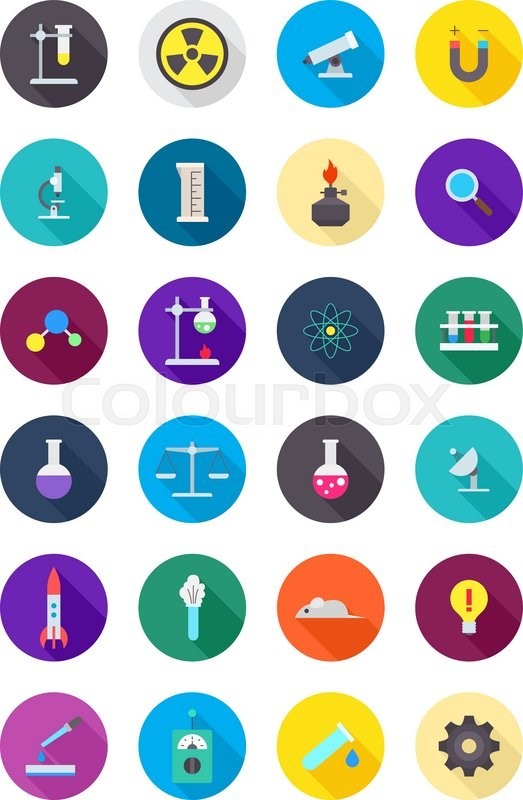 set of 24 color round science icons stock vector colourbox science test tube clipart science test tube clipart