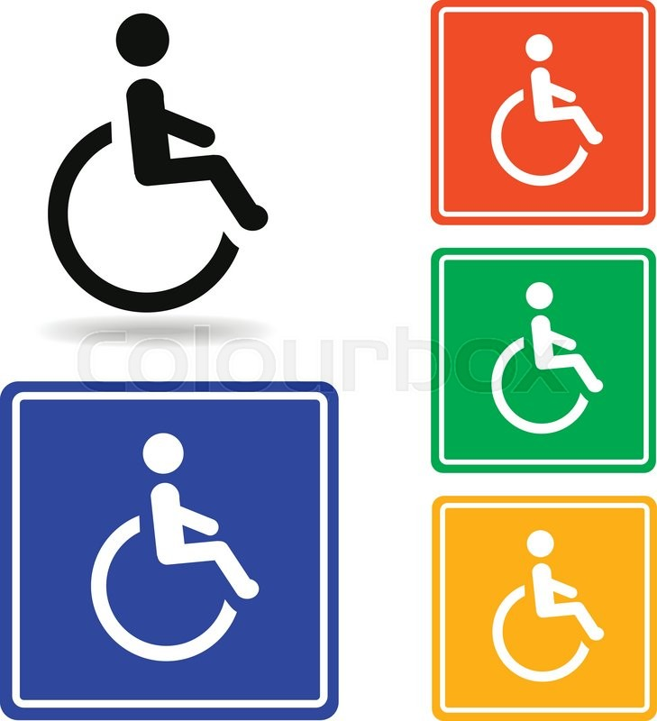 Disabled Icon Vector Disabled Pictogram For Logo With Disabled