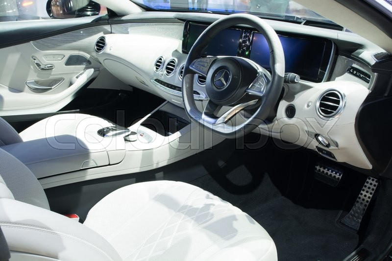 NONTHABURI - MARCH 23: Interior Design of NEW Mercedes Benz S500 Coupe AMG  premium on display at The 37th Bangkok International Motor show on MARCH  23, ...