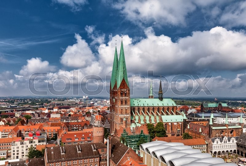Stock image of 'Lubeck is a city in Schleswig-Holstein, northern Germany, and one of the major ports of Germany.'