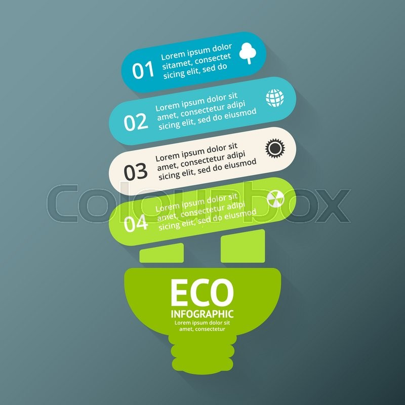 Energy Efficient Light Bulb  Vector